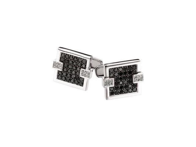 2 ct tw Black & White Diamond Cuff Links