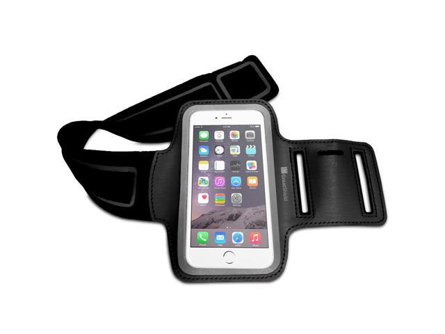 GreatShield Stretchable Neoprene Sport Armband with Hidden Pocket and Non-Slip Rubber Dots for Apple iPhone 6 4.7