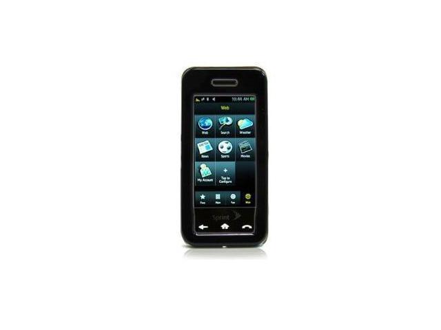 Fosmon Rubberized Hardshell Case for Samsung Instinct M800 (Black)
