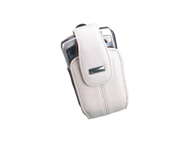 BlackBerry Lambskin Leather Swivel Holster for BlackBerry 8300 8310 8320 8330 - Pearl White