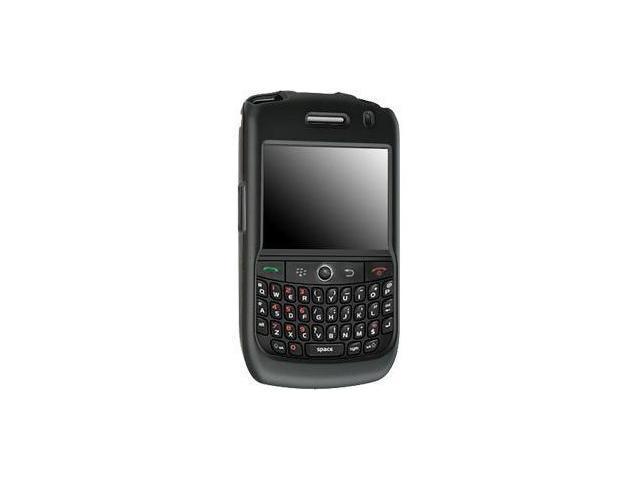 Fosmon Rubberized Hardshell Case for BlackBerry Curve 8900 (Black)