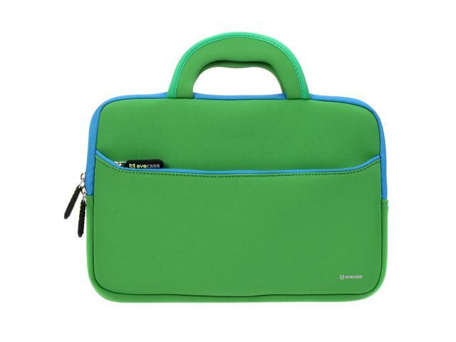 Evecase 10.6~12 inch Tablet, Netbooks Ultraportable Neoprene Zipper Carrying Case with Dual Hidden Pocket & Handle – Green
