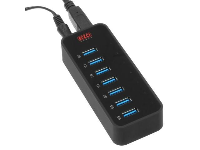 EZOPower USB 3.0 7-Port USB Hub with 10A USB Smart Charger Charging Station