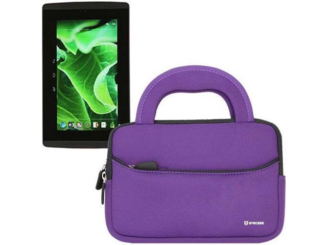Evecase® Ultra-Portable Universal Neoprene Carrying Sleeve for Evga Tegra Note 7 / Evga Tegra Note 7 4G LTE 7-inch Tablet ( Purple)