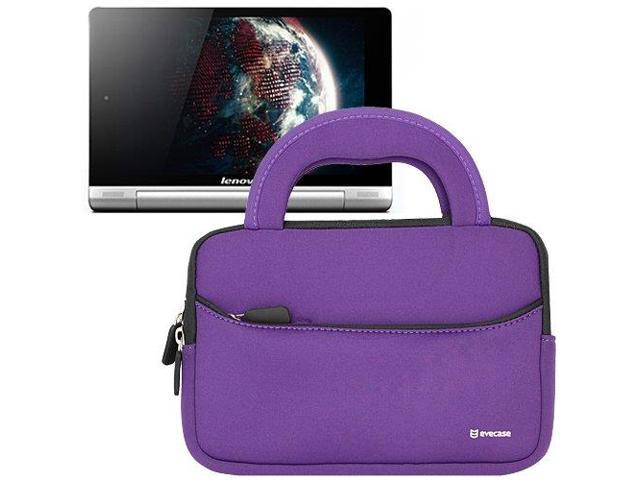 Evecase® Ultra-Portable Universal Neoprene Carrying Sleeve for Tablets such as Lenovo Yoga Tablet 8 - 8 inch Convertible Tablet (Purple)