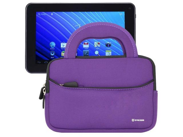 Evecase® Ultra-Portable Universal Neoprene Carrying Sleeve for Tablets such as Double Power M Series M7088 / EM63 7.0-Inch 8GB Tablet (Purple)