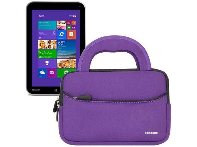 Evecase® Ultra-Portable Universal Neoprene Carrying Sleeve for Tablets such as Toshiba Encore WT8-A32 8-Inch Tablet (Purple)