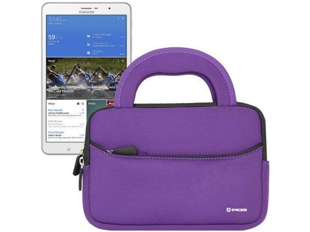 Evecase® Ultra-Portable Universal Neoprene Carrying Sleeve for Tablets such as Samsung Galaxy TabPRO 8.4 (SM-T320 / T325) - 8.4 inch Tablet (Purple)