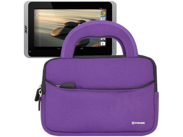 Evecase? Ultra-Portable Universal Neoprene Carrying Sleeve for Tablets such as Acer Iconia B1-720 7-inch Android Tablet ? Purple