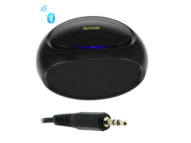 iKross Portable Bluetooth Mini Speaker with Mic + 3.5mm Stereo Audio M/ M Cable for LG G Pro 2, G2, Optimus F3Q, G Flex and ...