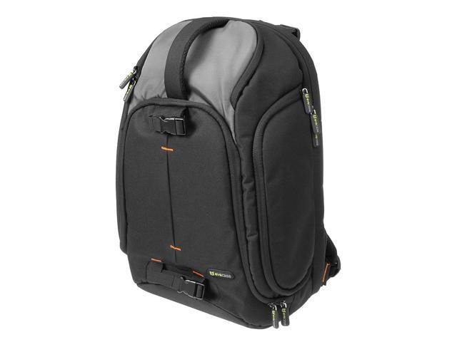 Evecase Large DSLR Camera/Lens Kit/Laptop Travel Backpack for Canon EOS 70D, 60D, 7D, T6s, T6i, T5i, T5, T4i, T3, T3i SLR - Black/Gray