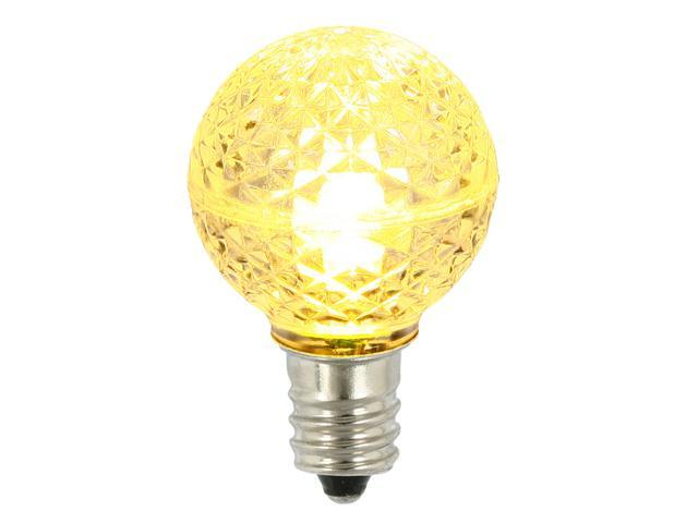 Pack of 25 LED G30 Warm Clear Replacement Christmas Light Bulbs