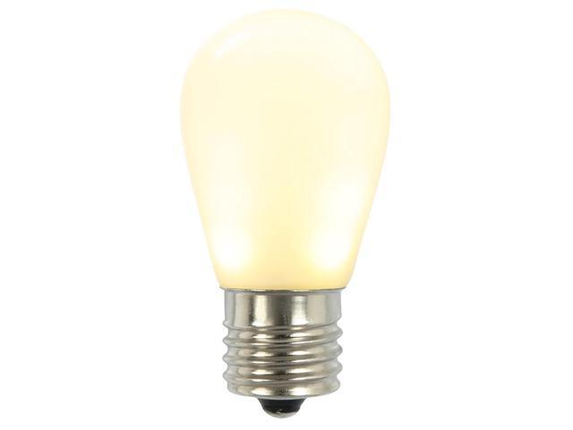 Set of 6 White Ceramic LED S14 Replacement Light Bulbs