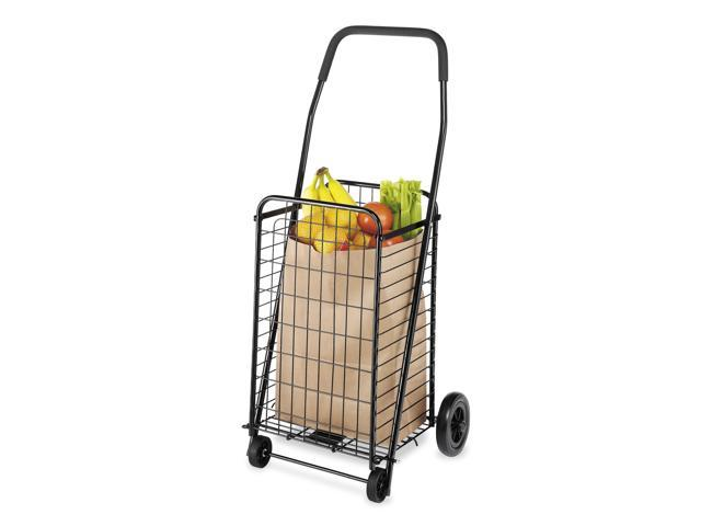 Black Rolling Utility Cart / Shopping Cart - Black