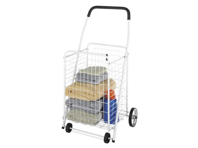 White White Wire Rolling Utility Cart