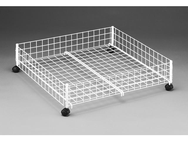White Rolling Underbed Cart