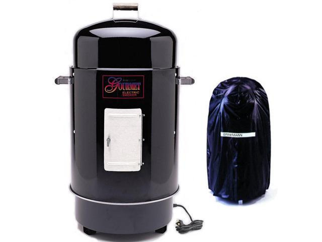 Gourmet Black Electric Smoker & Grill with Vinyl Cover