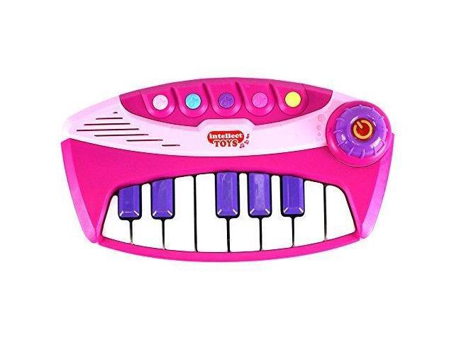Lil Musician Intellect 13 Key Toy Piano Keyboard, Create your Own Songs or Play Along 5 Built In Songs (Pink)