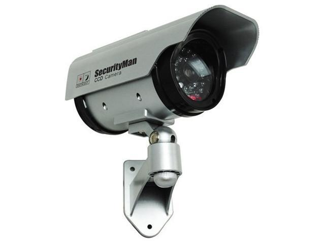 SecurityMan SM-3803 Solar Power Outdoor/Indoor Dummy Camera with LED