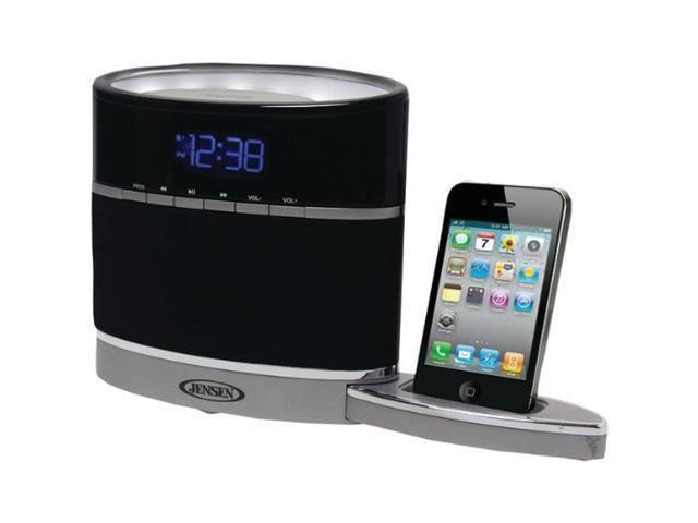 JENSEN JIMS-185I iPhone/iPod Docking Clock Radio with Night Light