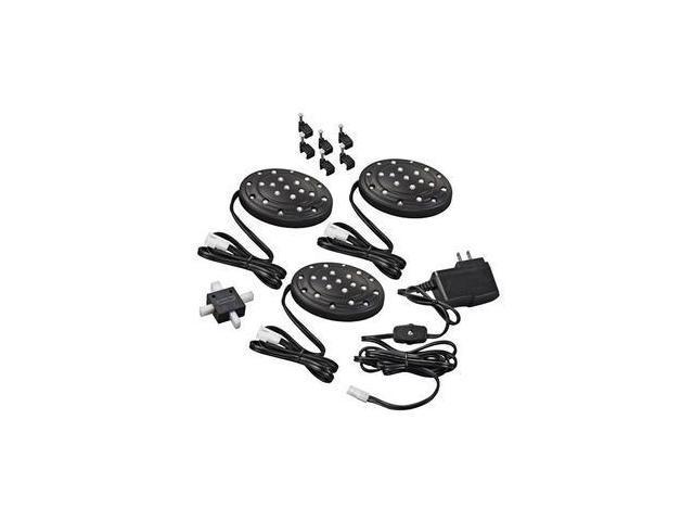 Westek 61150 - Black LED Slimline Puck Light (3 pack) (LED32LBCC)