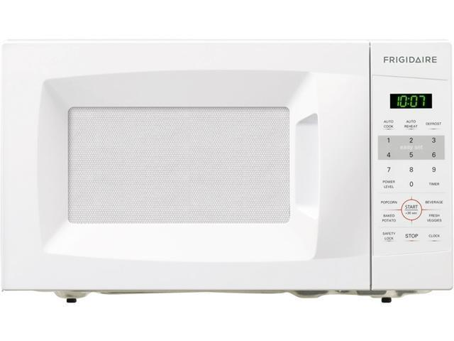 0.7 cu. ft. Countertop Microwave Oven with 700 Cooking Watts, 6 Quick Start One-Touch Options, Auto-Cook/Reheat Options and Glass Turntable: White