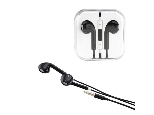 Gearonic ™ New 3.5mm Eearbud Earphone Headset Earpods for Apple iPhone 5 5S Mobile MP3 MP4 Tablet PC Laptop with Microphone- Black