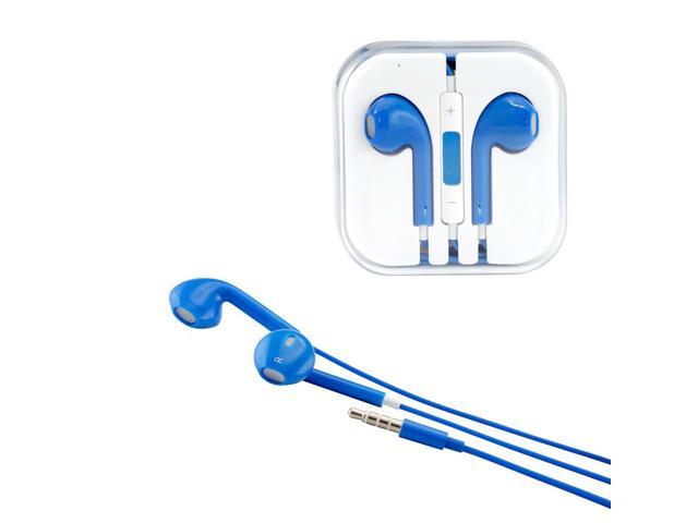 Gearonic ™ New 3.5mm Eearbud Earphone Headset Earpods for Apple iPhone 5 5S Mobile MP3 MP4 Tablet PC Laptop with Microphone - Blue