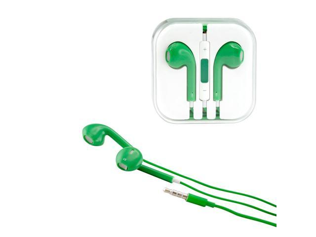 Gearonic ™ New 3.5mm Eearbud Earphone Headset Earpods for Apple iPhone 5 5S Mobile MP3 MP4 Tablet PC Laptop with Microphone - Green
