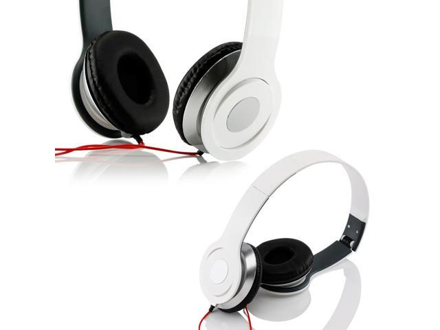 Gearonic ™ Adjustable Circumaural Over Ear Stereo Stero Earphone Headphone for PC MP3 MP4 iPod iPhone iPod Tablet - White