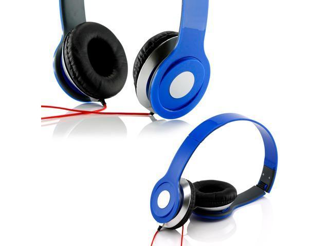 Gearonic ? Adjustable Circumaural Over Ear Stereo Stero Earphone Headphone for PC MP3 MP4 iPod iPhone iPod Tablet - Blue