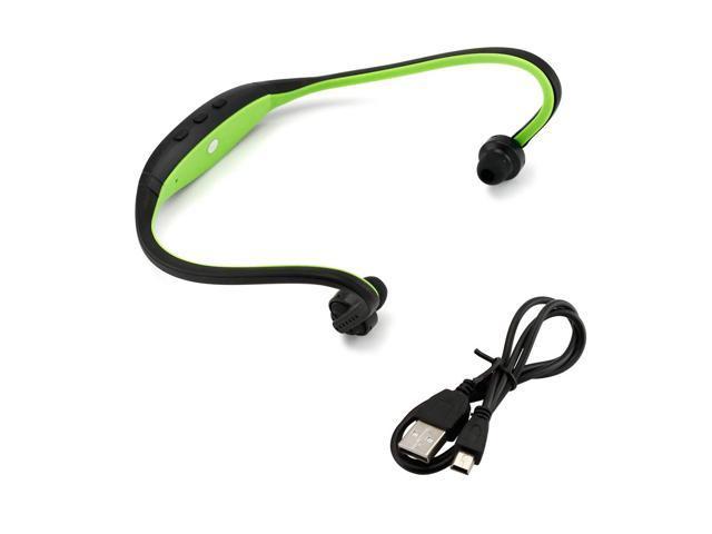 GEARONIC TM Sports Wireless Stereo Bluetooth Wrap Around Earphones Headset Headphone For Samsung iPhone Cellphone PC - Green