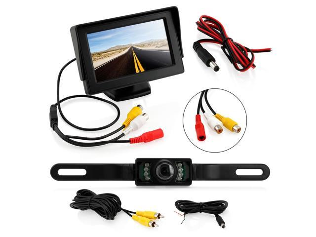 Car Rear View System Backup Revese Camera Night Vision + 4.3