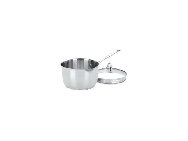 Cuisinart Chef's Classic Stainless Cook and Pour Saucepan with Cover - 3 Quart
