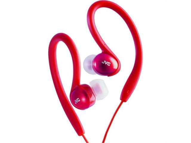 JVC HA-EBX5-R Sport Ear-Clip Headphones (Red)