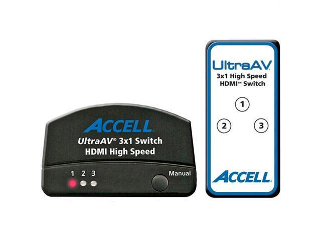 Accell K072C-009B Accell ultraav 3 x 1 hdmi 1 3 audio/video switch