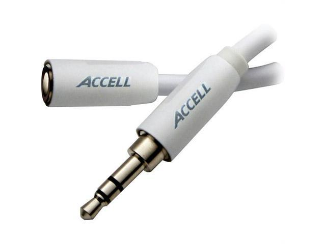 Accell L099B-006J Accell 6' 3 5mm stereo audio extension cable for ipod /iphone /ipad