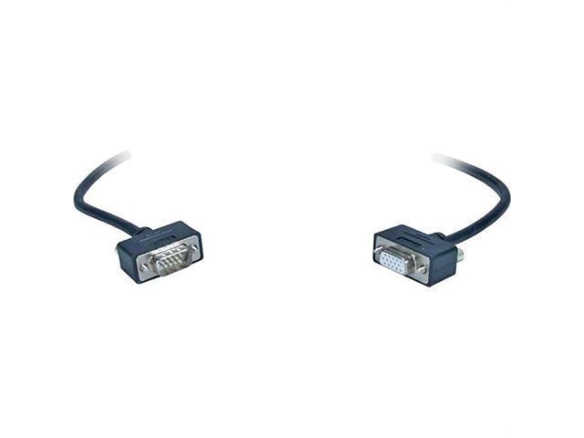 QVS CC320M1-50 Qvs 50' high-performance ultra thin vga/qxga hd15 male to female tri-shield cable