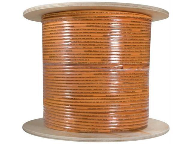MONSTER CABLE CP CAT5E-ORG EZ1000 Monster cable cp cat5e-org ez1000 cat-5e cable, 1,000 ft (orange)