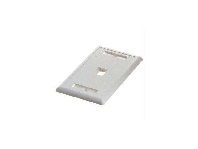 Steren 310-201WH Steren white keystone wall plate - 1-port