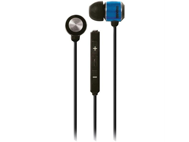 Maxell 190306 maxmusic iPhone Compatible Earbud (Blue)
