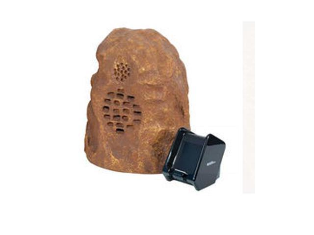 C2G Sandstone Wireless Rock Speaker (Rechargeable) with Dual Power Transmitter