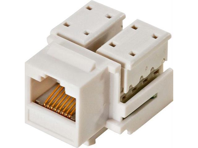 White CAT5e Keystone Jack - 10-Pack