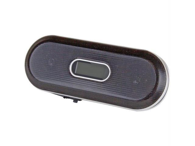 Red Travel Speaker with FM Radio for Portable 3.5mm Devices