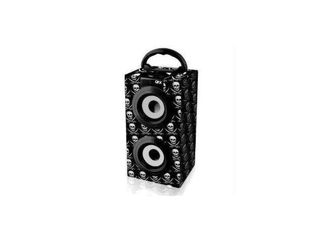 Spk M.Media Spkr Fm Radio-Blackskull With Two 3W 90Mm Speakers - Portable