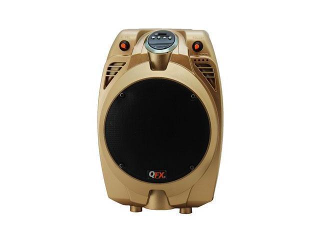 QFX PBX-706100BT-GOLD BATTERY POWERD PA SPEAKER