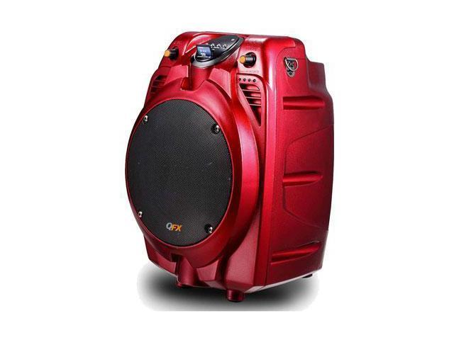 QFX PBX-706100BT-RED BATTERY POWERD PA SPEAKER
