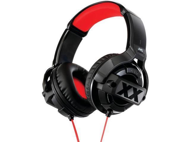 JVC Black HAM55X 3.5mm Connector Circumaural Xtreme Xplosives Stereo Headphones