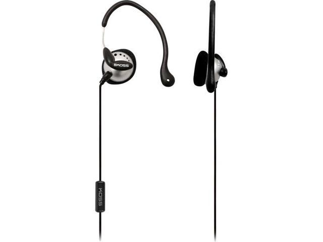 Black / Silver Ultra Lightweight Sport Ear-Clip Headphones
