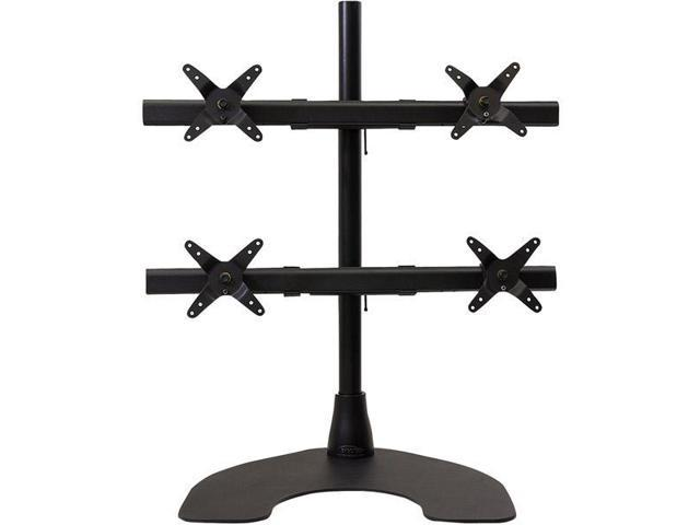 Black Freedom Quad 2 x 2 Desk Stand with 28